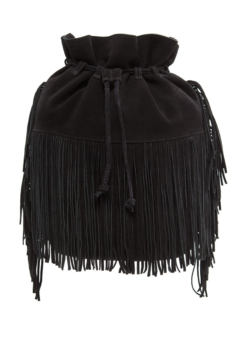 Fringed bucket bag | MANGO
