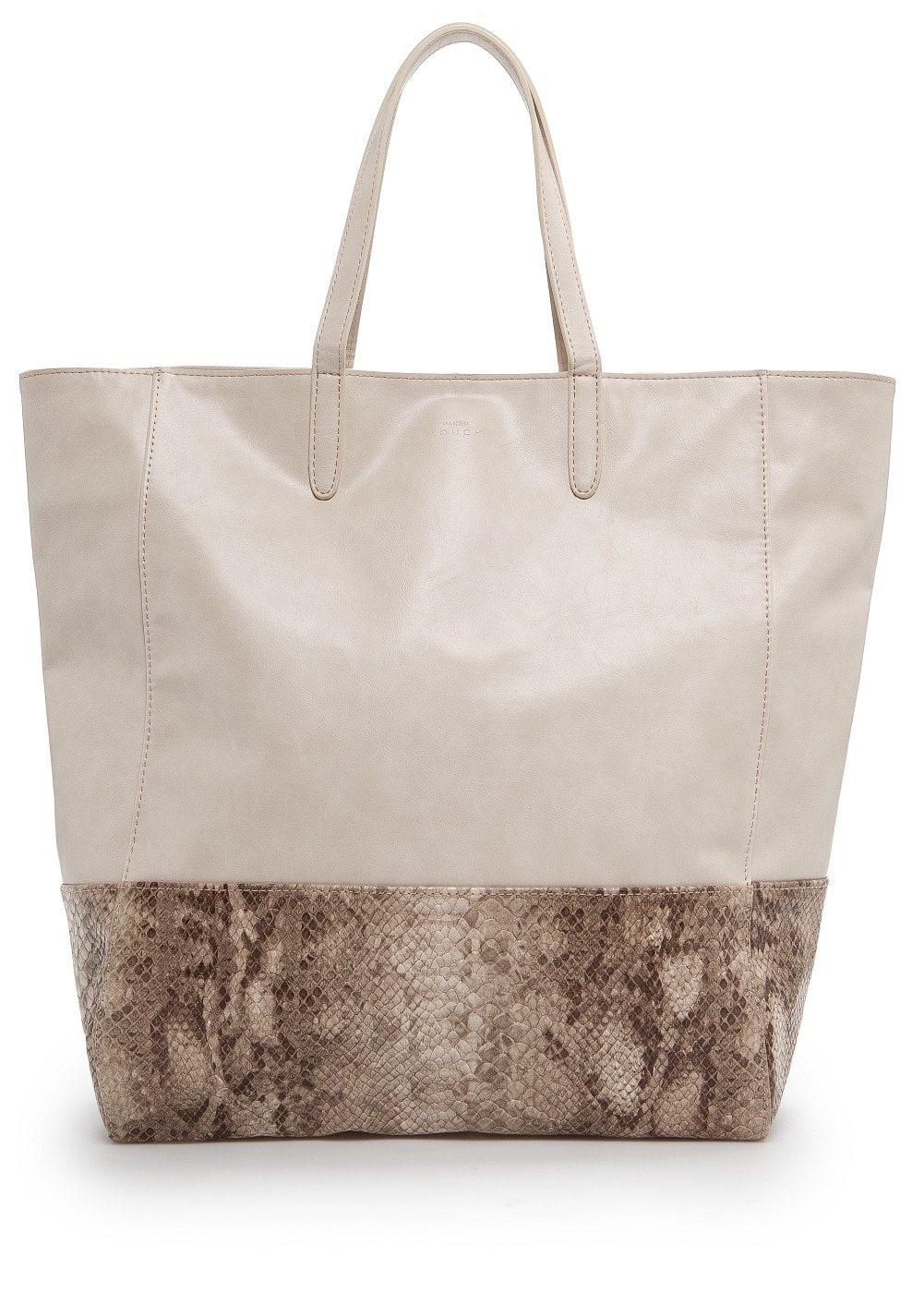 Snake skin panel shopper | MANGO