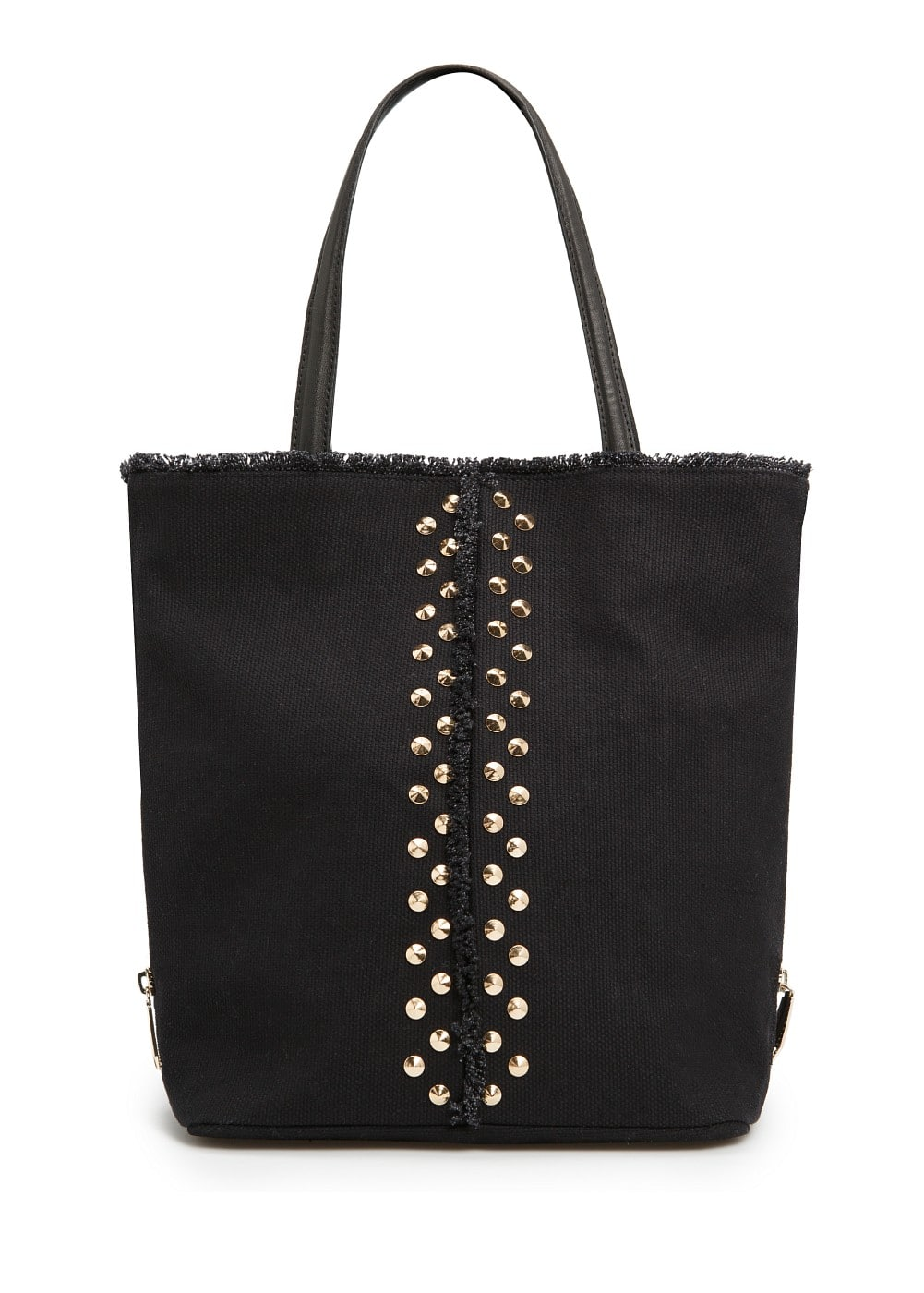 Studded canvas shopper
