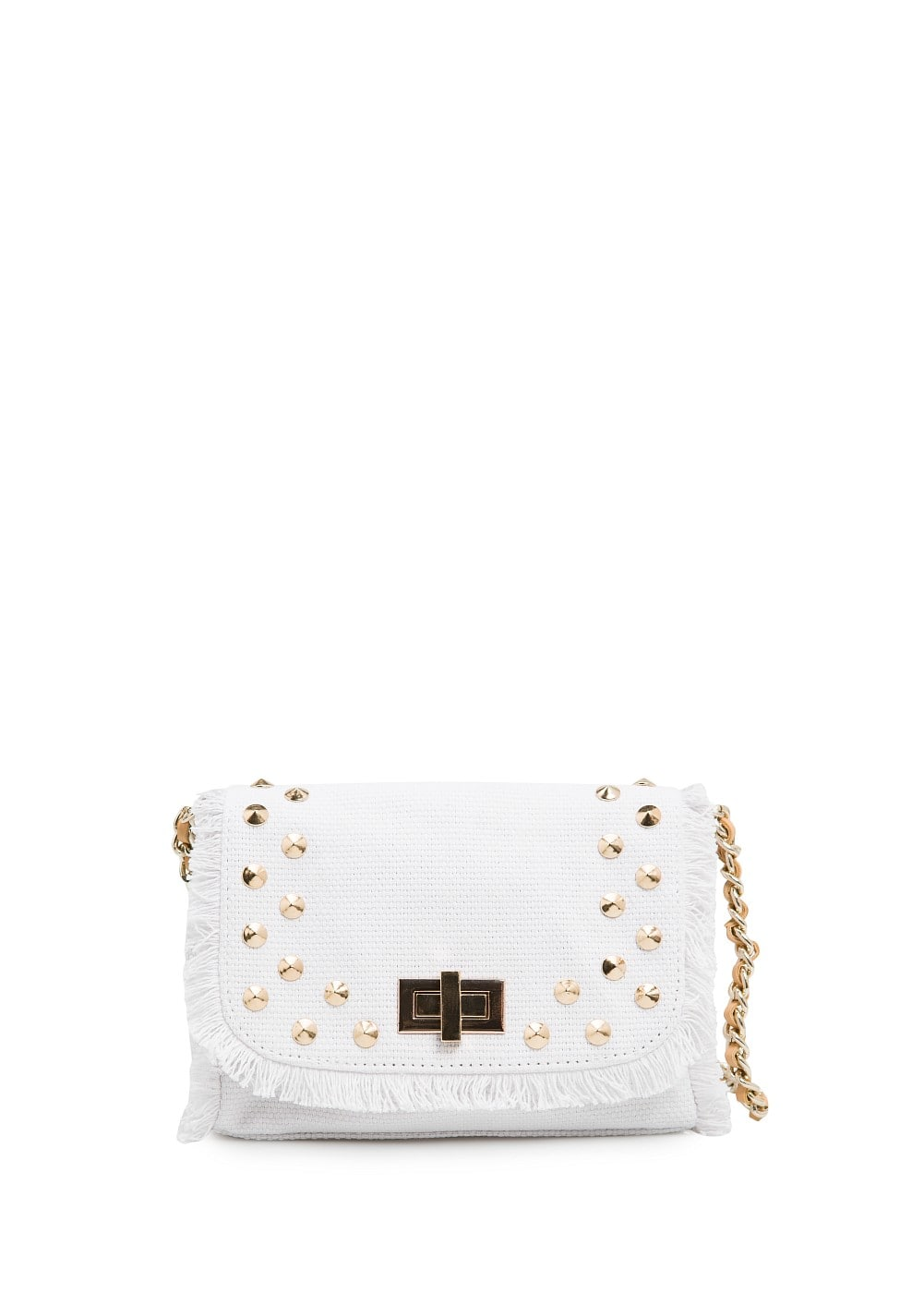 Studded canvas bag