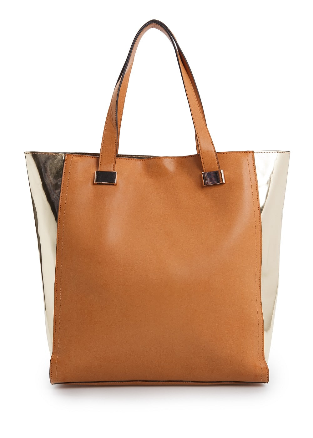 Mirror paneled shopper bag