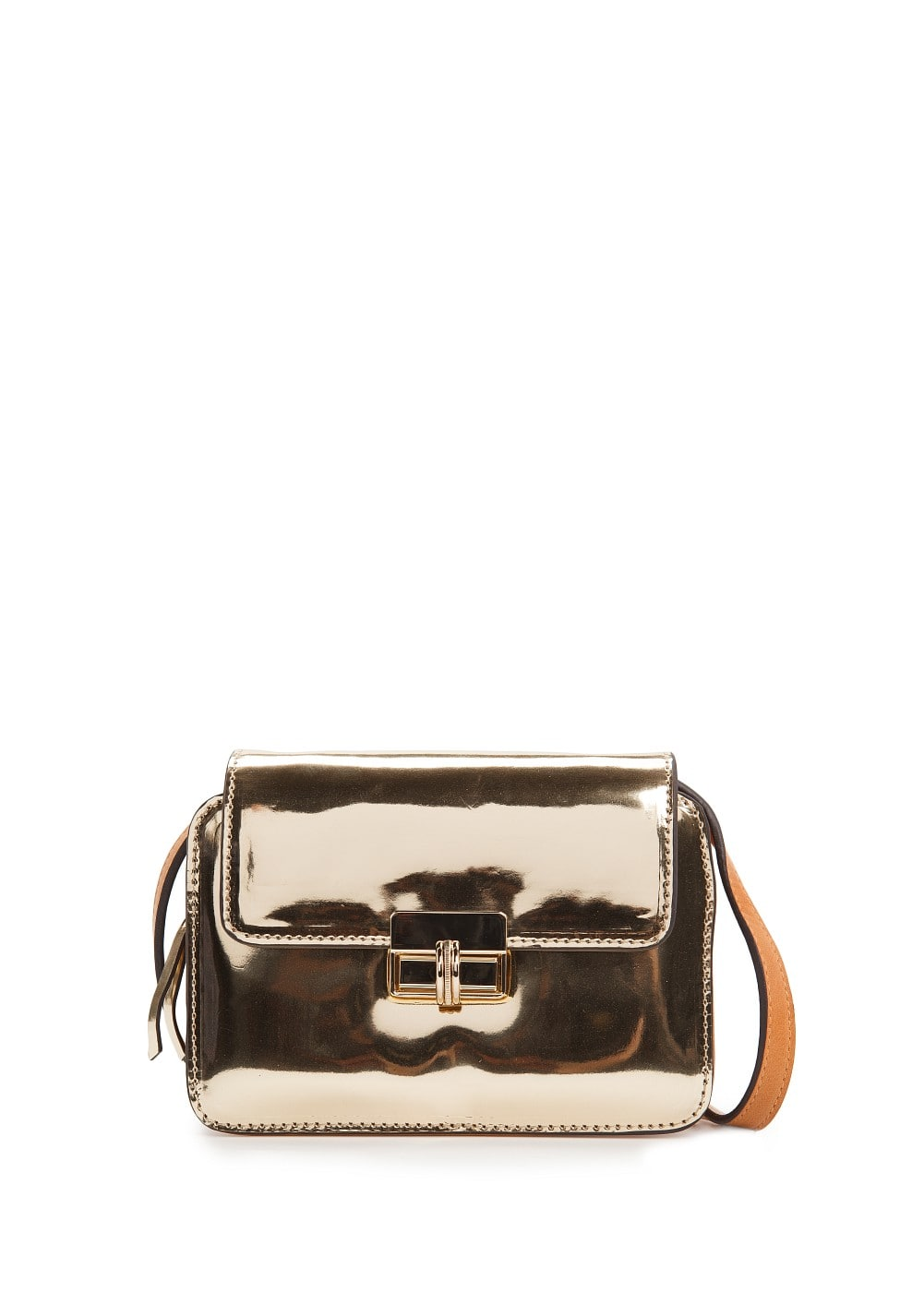 Metallic small shoulder bag