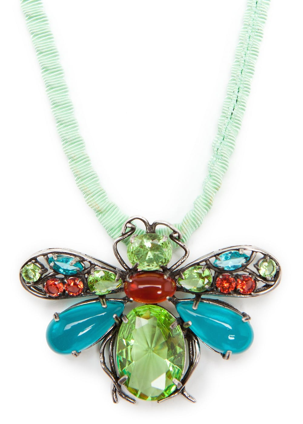 Crystals insect necklace