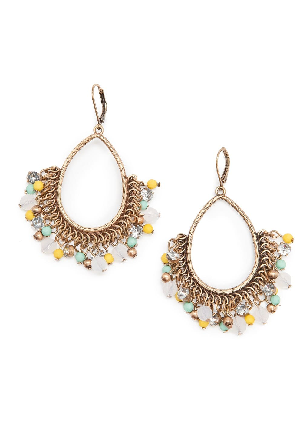 Beaded ethnic earrings