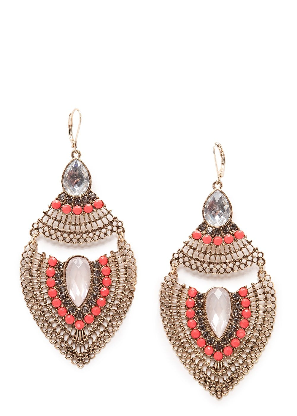 Embellished maxi-earrings
