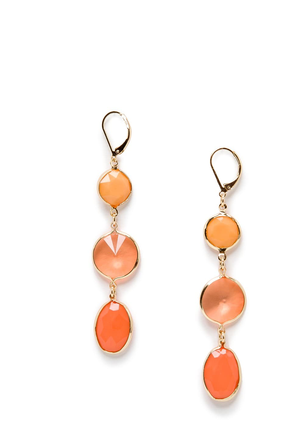 Crystals drop earrings