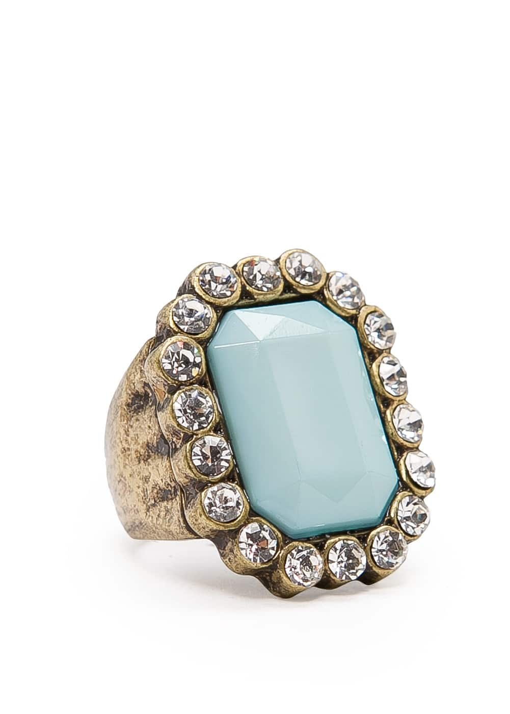 Stone crystals ring