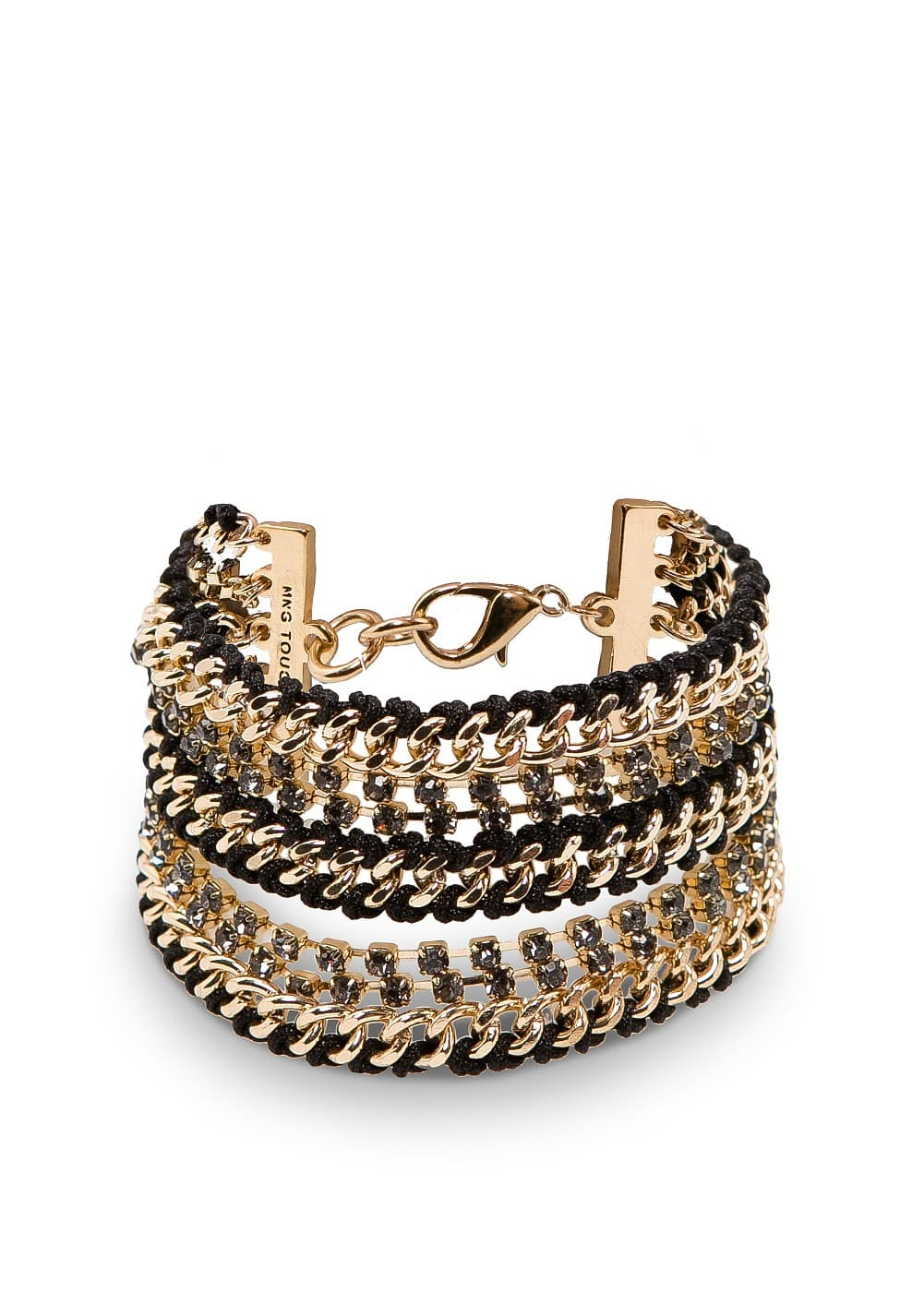 Chains crystals bracelets | MANGO