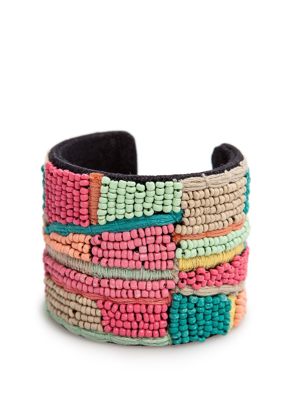 Beads embroidered cuff