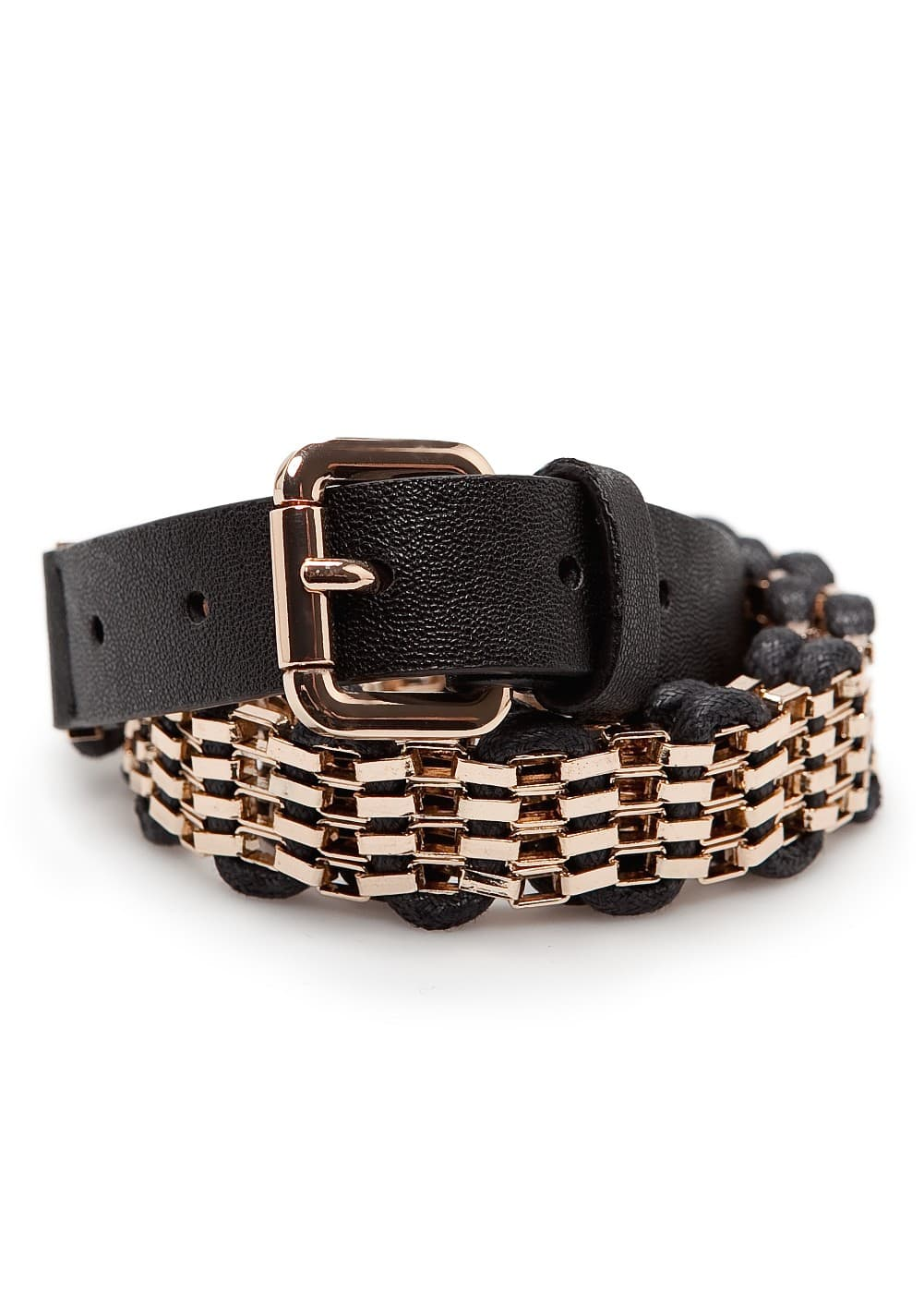 Woven drawcord chain belt