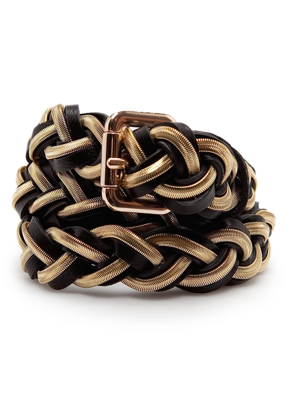 Braided chain belt