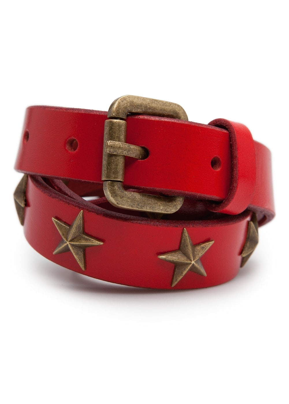 Stars leather belt