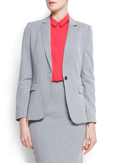 Tailored stripes blazer