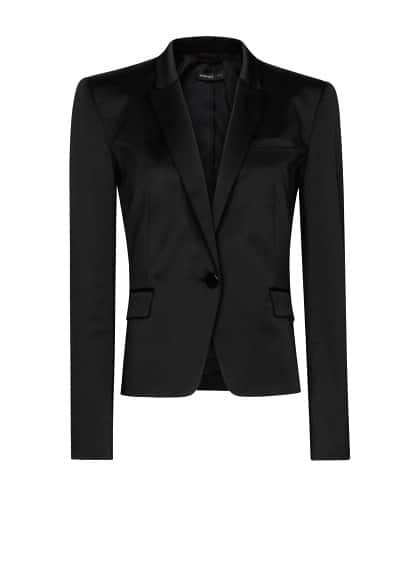 Satin tailored blazer
