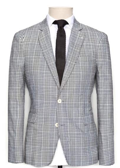 CHECK SUIT BLAZER