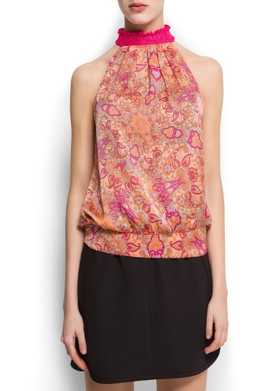Top halter stampa Paisley