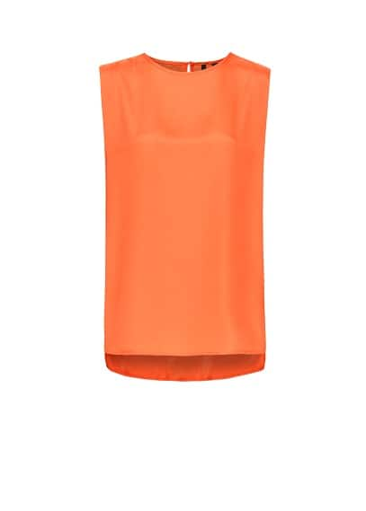 Oversized sleeveless top