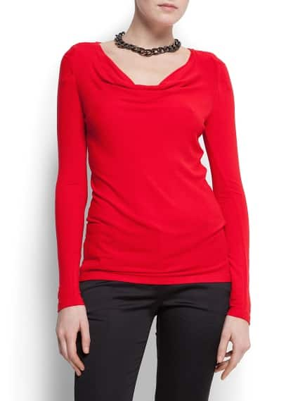 Draped knit t-shirt
