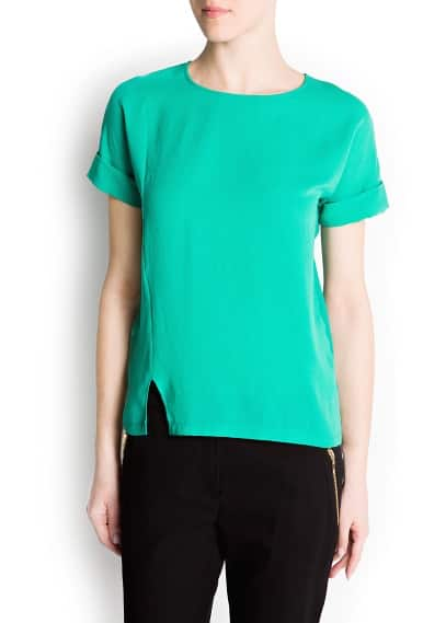 Asymmetric stitching t-shirt