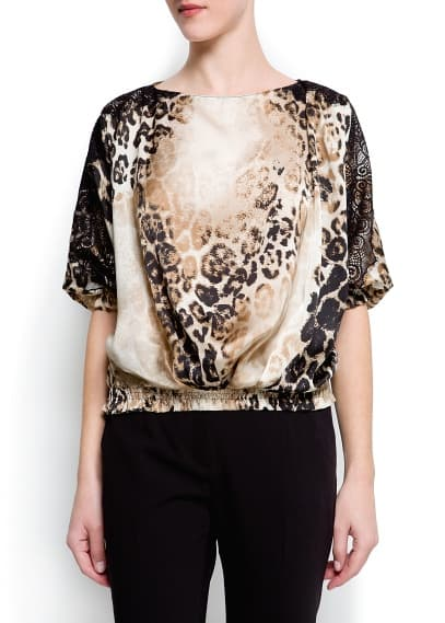 Blouson animal print pizzo