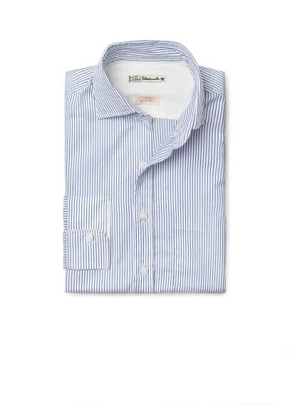 Slim-fit pocket striped shirt