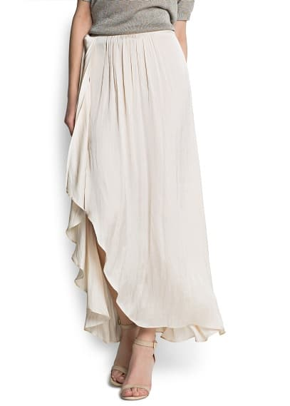 Maxi-skirt lateral vent