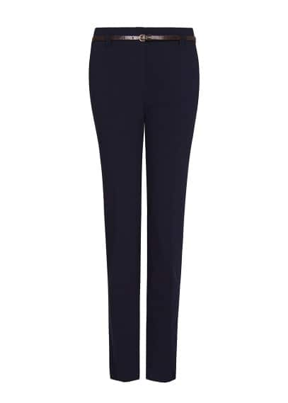 Cropped high waist trousers