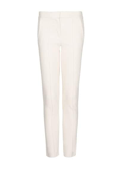 Suit straight-cut trousers