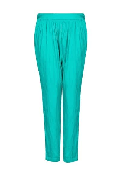 Baggy satin trousers