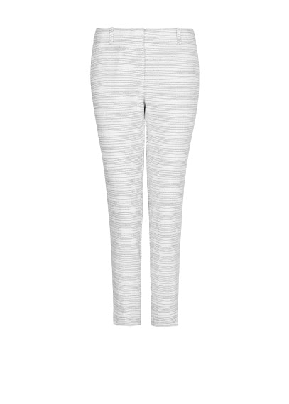 Striped bouclé trousers