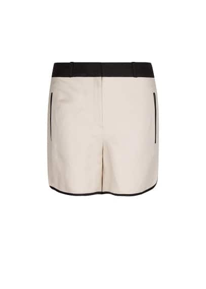 Zigzag texture two-tone short