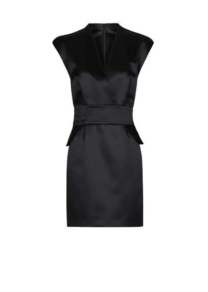 Peplum satin dress