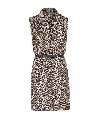 Animal print wrapped dress