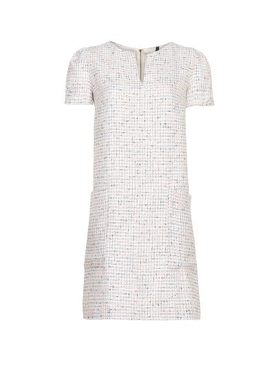 Straight-cut bouclé dress