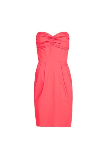 Pleated details dress