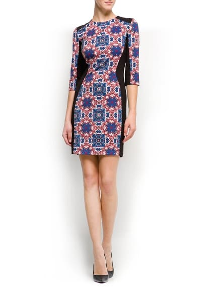 Printed panels dress