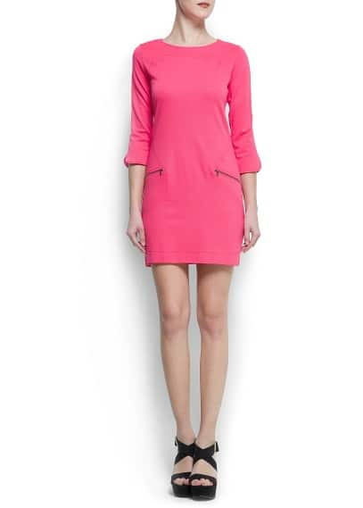 Zippers jersey dress