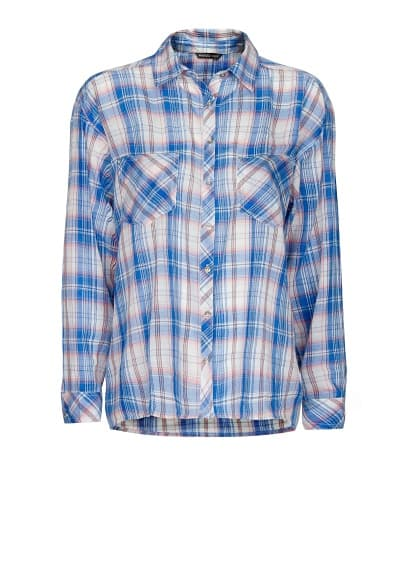 Special Prices Checked boyfriend shirt