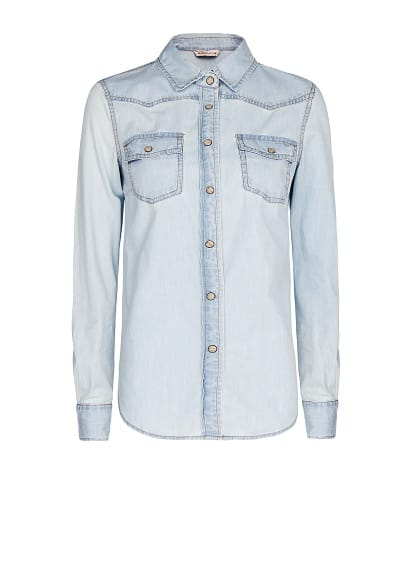 Bleached denim shirt