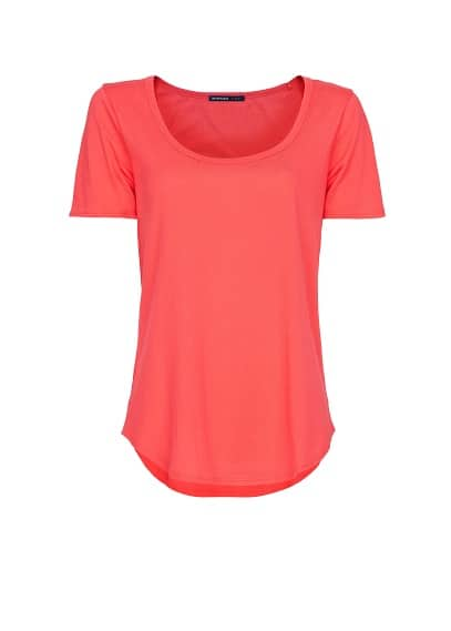 Cotton scoop neck t-shirt