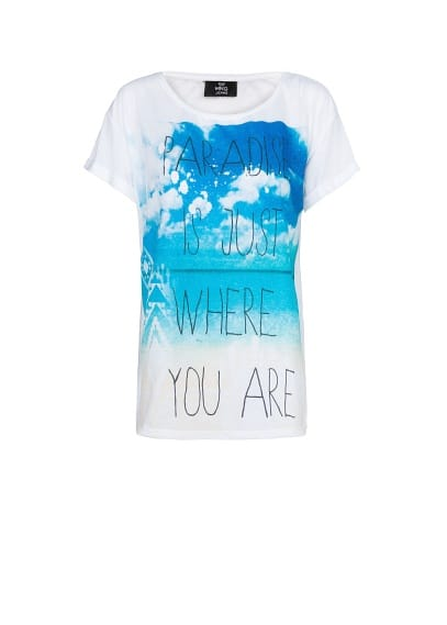 Beach and typographic print t-shirt