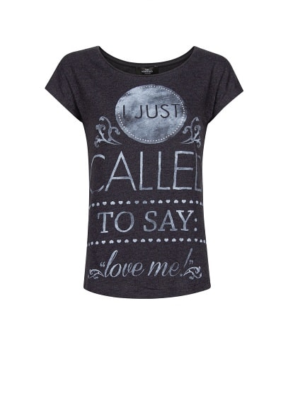 Strass message t-shirt
