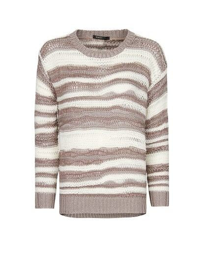 Irregular stripes sweater
