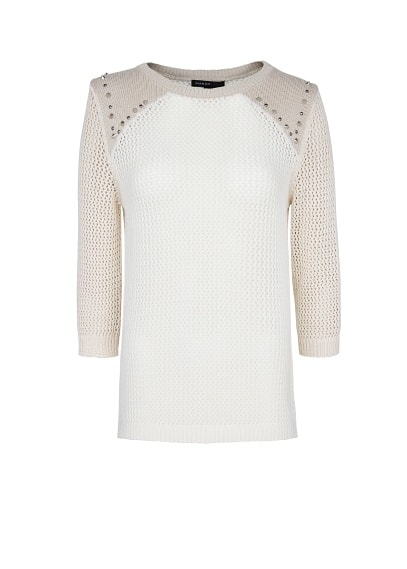 Studded shoulders jumper
