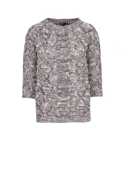 Cable-knit flecked jumper