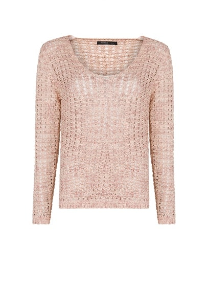Open knit flecked jumper