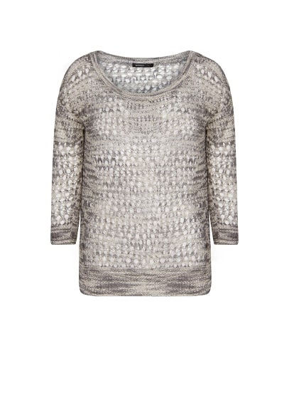 Cotton blend flecked jumper