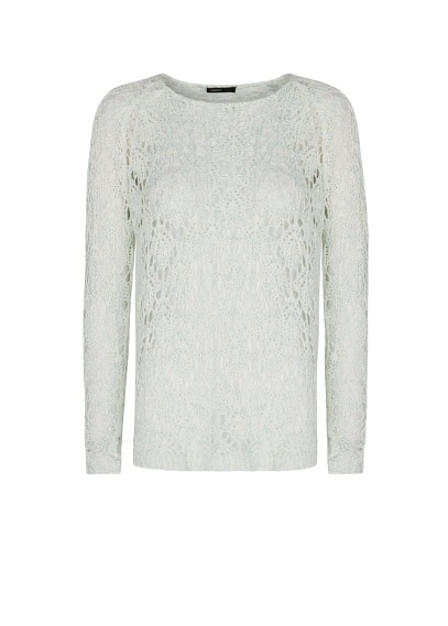 Flecked openwork jumper