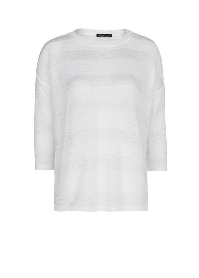 Striped texture lurex jumper
