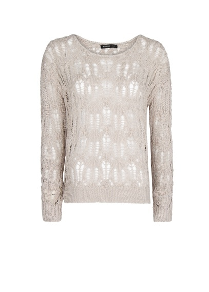 Lurex open knit jumper